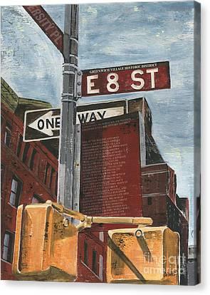 Nyc 8th Street Canvas Print by Debbie DeWitt