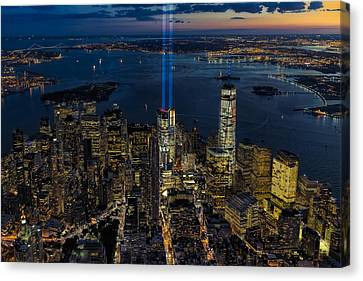 Nyc 911 Tribute In Lights Canvas Print