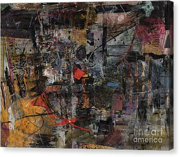 Canvas Print featuring the painting Nyc Abstract by Robert Anderson