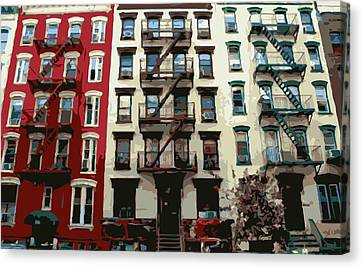 Nyc Apartment Color 16 Canvas Print by Scott Kelley