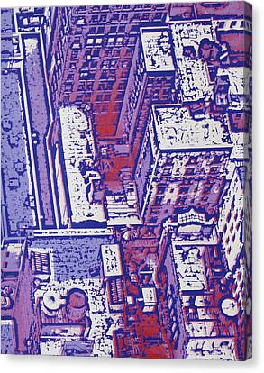 Nyc Apartments Canvas Print by Toni Silber-Delerive