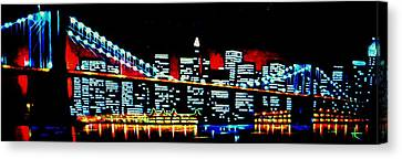 Nyc Black Light Canvas Print