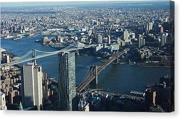 Canvas Print featuring the photograph Nyc Bridges by Matthew Bamberg