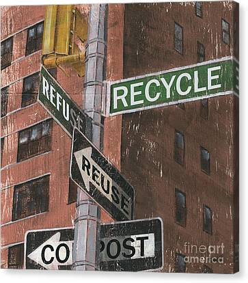 Nyc Broadway 1 Canvas Print by Debbie DeWitt