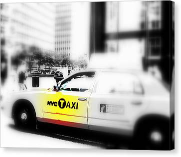 Nyc Cab Canvas Print by Funkpix Photo Hunter