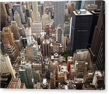 Nyc Cityscape Canvas Print by Nina Papiorek