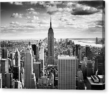 White Canvas Print - Nyc Downtown by Nina Papiorek