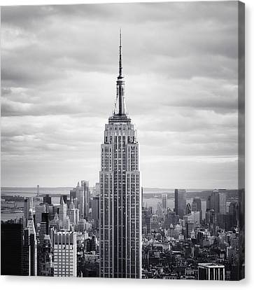 New York City Skyline Canvas Print - Nyc Empire by Nina Papiorek