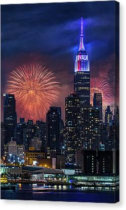 Nyc Fourth Of July Fireworks  Canvas Print