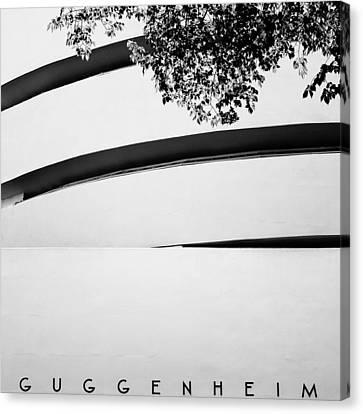 Guggenheim Canvas Print - Nyc Guggenheim by Nina Papiorek