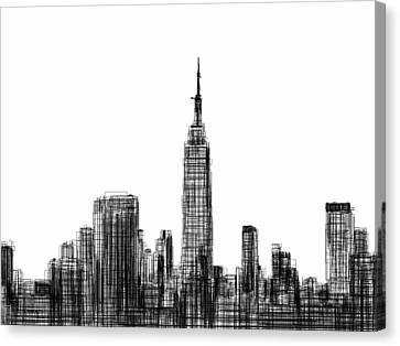 Times Square Canvas Print - NYC by Harold Belarmino