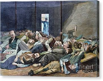 Nyc: Homeless, 1874 Canvas Print by Granger