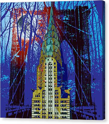 Nyc Icons Canvas Print by Gary Grayson