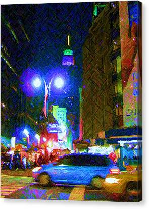 Canvas Print featuring the photograph Nyc In Tie Dye by Susan Carella