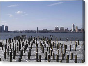 New York City Piers  Canvas Print by Henri Irizarri
