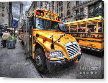 Nyc School Bus Canvas Print