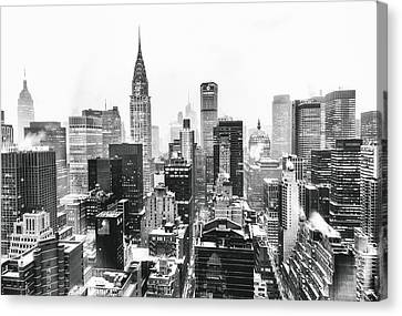 Nyc Snow Canvas Print by Vivienne Gucwa