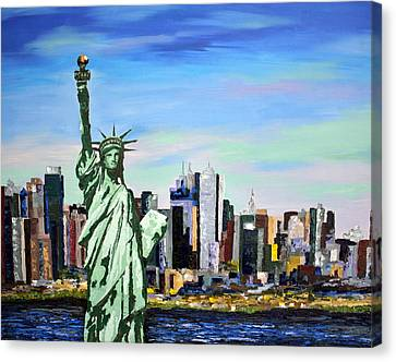 Nyc - Statue Of Liberty Canvas Print