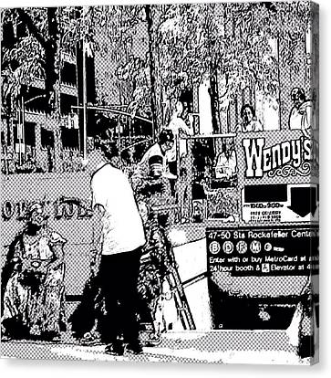 Nyc Street Scene Canvas Print