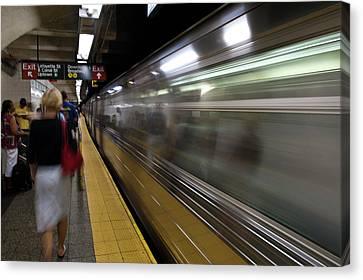 Train Station Canvas Print - Nyc Subway by Sebastian Musial