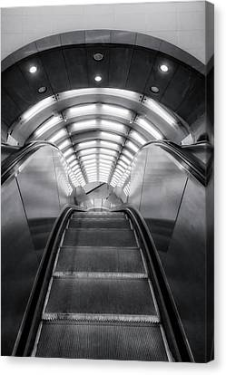 Canvas Print featuring the photograph Nyc Subway Station by Susan Candelario