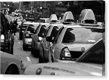 Nyc Traffic Bw16 Canvas Print by Scott Kelley