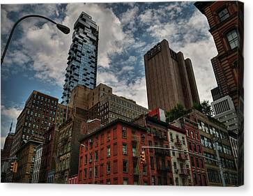 Fire Escape Canvas Print - Nyc - Tribeca 002 by Lance Vaughn