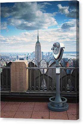 Nyc Viewpoint Canvas Print by Nina Papiorek