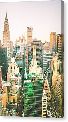 Nyc Rooftop Canvas Print - NYC by Vivienne Gucwa