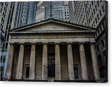 Nyc Wall Street Canvas Print by Martin Newman