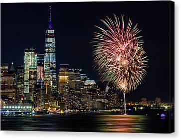Canvas Print featuring the photograph Nyc World Trade Center Pride by Susan Candelario