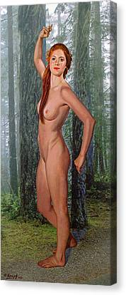 Nymph Of The Forest Canvas Print
