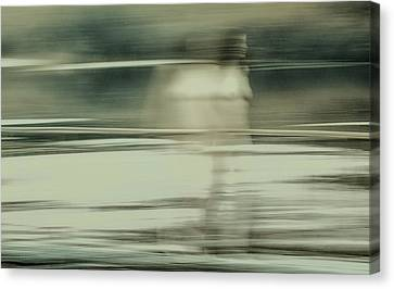 Nymph Walking On Water Canvas Print by Vasyl Molchan