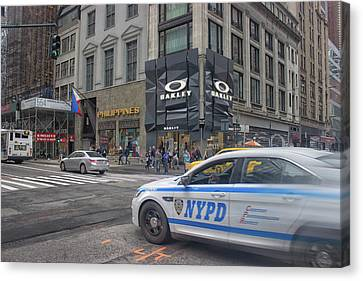 Arrest Canvas Print - Nypd by Martin Newman