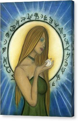 Nyx Goddess Of Night Canvas Print by Natalie Roberts