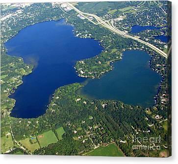 O-008 Oconomowoc Lake Waukesha County Wisconsin Canvas Print