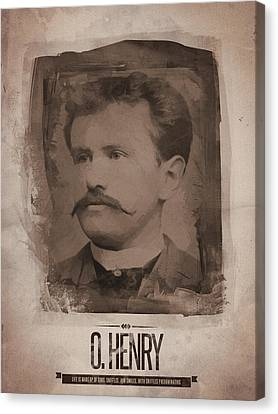O. Henry Canvas Print by Afterdarkness
