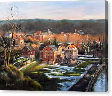 Thaw Canvas Print - O, Little Town by Diane Hutchinson