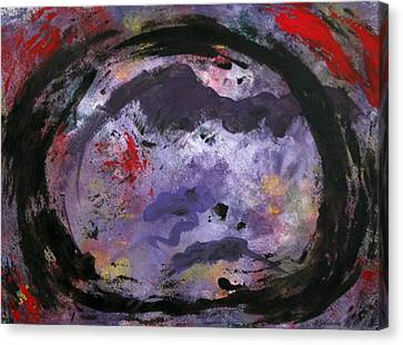 Canvas Print featuring the painting O by Mordecai Colodner