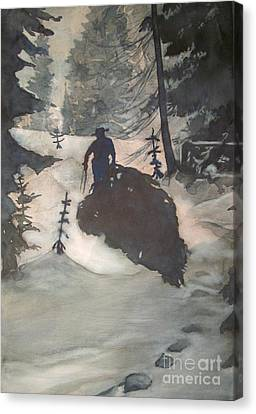 Canvas Print featuring the painting O Tannenbaum by Elizabeth Carr
