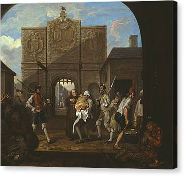 O The Roast Beef Of Old England Canvas Print by William Hogarth