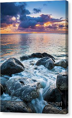 Reflecting Water Canvas Print - Oahu Shoreline by Inge Johnsson