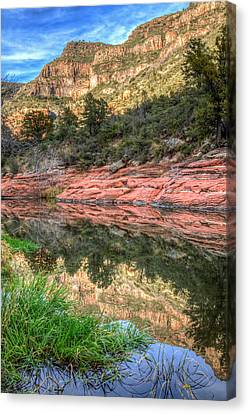 Oak Creek Canyon Canvas Print by Tom Weisbrook