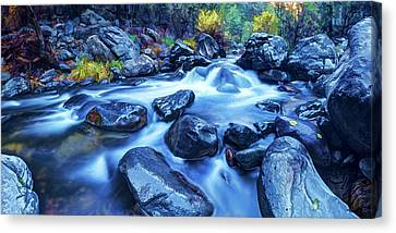 Canvas Print featuring the photograph Oak Creek Flow by ABeautifulSky Photography