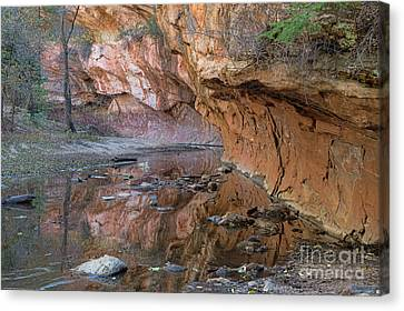 Canvas Print featuring the photograph Oak Creek Reflections - Sedona, Az by Sandra Bronstein