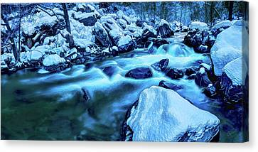 Canvas Print featuring the photograph Oak Creek Snow by ABeautifulSky Photography