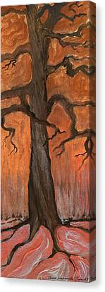 Oak Tree In The Fall Canvas Print by Anna Folkartanna Maciejewska-Dyba