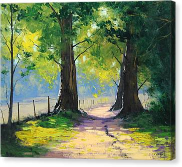 Oak Tree Trail Canvas Print