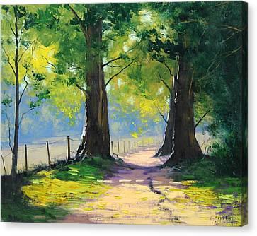 Oak Tree Trail Canvas Print by Graham Gercken