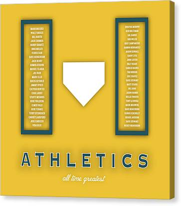 Oakland Athletics Art - Mlb Baseball Wall Print Canvas Print